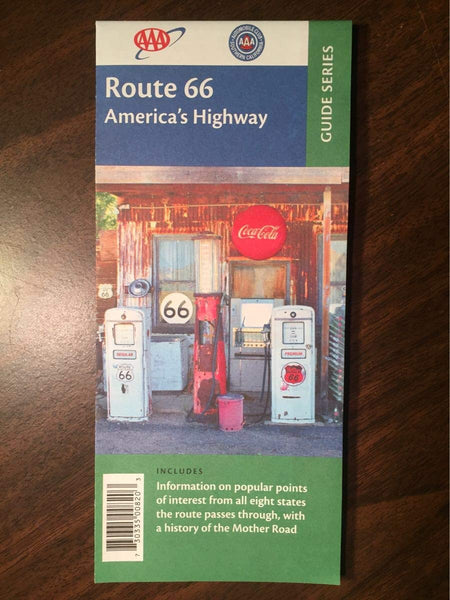 2015 AAA/ACSC Route 66 'America's Highway' Guide Series Map - Wide World Maps & MORE! - Office Product - Guide Series - Wide World Maps & MORE!