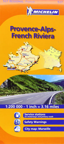 Michelin Map France: Provence French Riviera 527 (Maps/Regional (Michelin)) (English and French Edition)