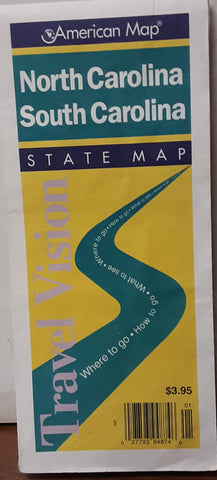 North & South Carolina: State Map (Travelvision State Maps)