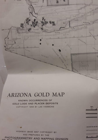 Arizona Gold Map