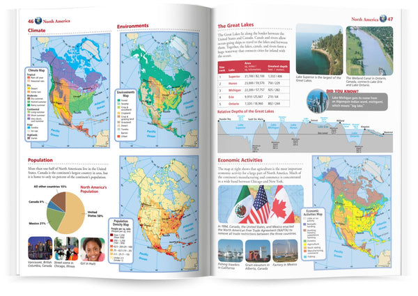 Know Geography™ World Atlas Grades 4-9 (Rand McNally) - Wide World Maps & MORE! - Map - Rand McNally & Company - Wide World Maps & MORE!