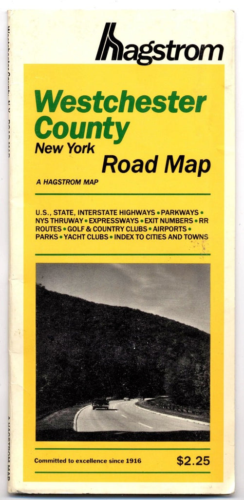 Hagstrom Westchester County road map