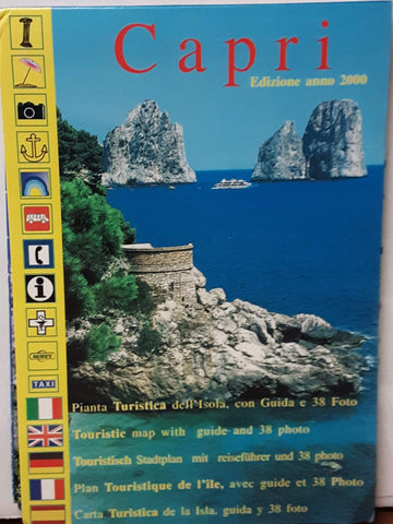 Island of Capri Tourist Road and Trekking Map