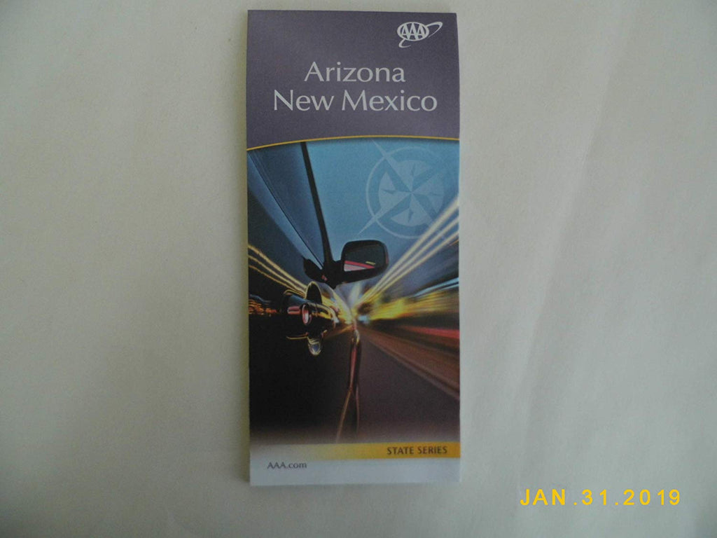 AAA Arizona New Mexico State Series Map 12/17-3/19 - Wide World Maps & MORE! - Office Product - AAA Maps - Wide World Maps & MORE!