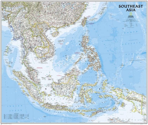 Southeast Asia Classic Wall Map [Material: Paper] - Wide World Maps & MORE!