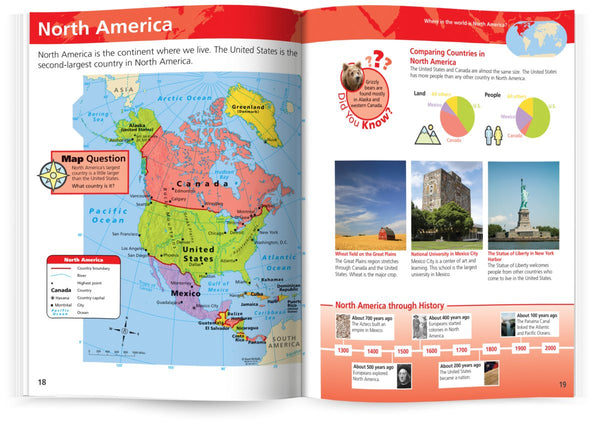 Know Geography™ World Atlas Grades 1-3 (Rand McNally) - Wide World Maps & MORE! - Map - Rand McNally & Company - Wide World Maps & MORE!