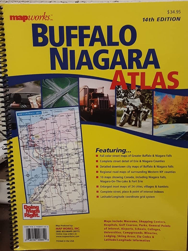 MapWorks Buffalo Niagra Atlas - Wide World Maps & MORE!