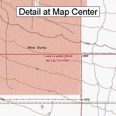 USGS Topographic Quadrangle Map - Casa Grande West, Arizona (Folded/Waterproof)