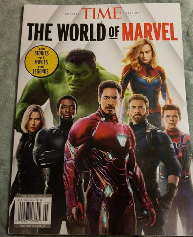 Time Special Edition 2019, The World Of Marvel magazine + FREE GIFT