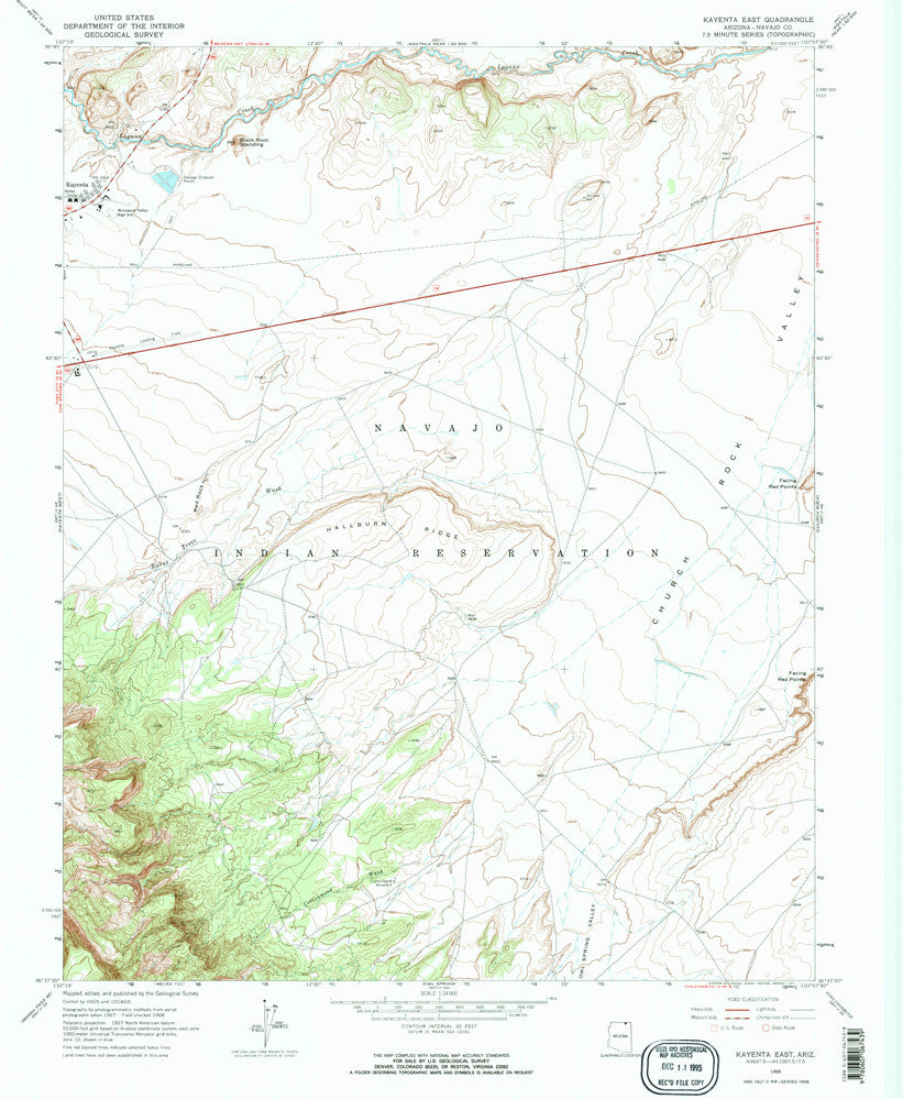KAYENTA EAST, Arizona (7.5'×7.5' Topographic Quadrangle)