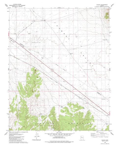 us topo - AUDLEY, Arizona 7.5' - Wide World Maps & MORE! - Map - Wide World Maps & MORE! - Wide World Maps & MORE!