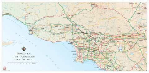us topo - Greater Los Angeles and Vicinity - Wide World Maps & MORE! - Map - Wide World Maps & MORE! - Wide World Maps & MORE!