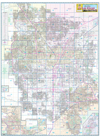 us topo - Greater Las Vegas Area Wall Map Ready-to-Hang - Wide World Maps & MORE! - Map - Wide World Maps & MORE! - Wide World Maps & MORE!