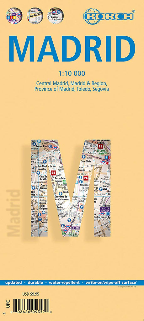 Madrid, Spain - Laminated Borch Map - Wide World Maps & MORE! - Office Product - Flagline - Wide World Maps & MORE!