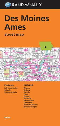 Folded Map: Des Moines and Ames Street Map (Rand Mcmally)