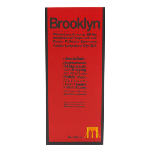 Red Map Brooklyn with Long Island City - City Travel Guide