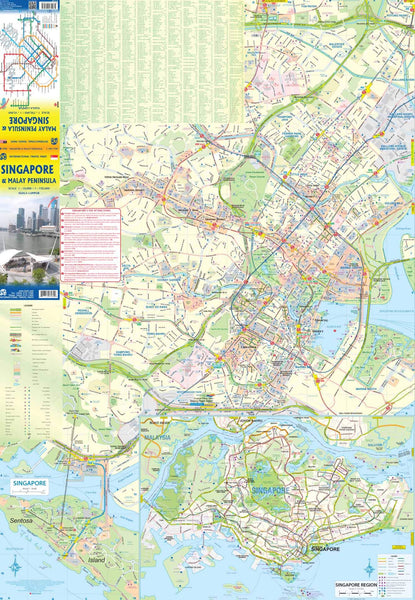 Singapore & Malay Peninsula Travel Reference Map 1:10,000/1:730,000 - Wide World Maps & MORE! - Map - ITMB Publishing, Ltd. - Wide World Maps & MORE!