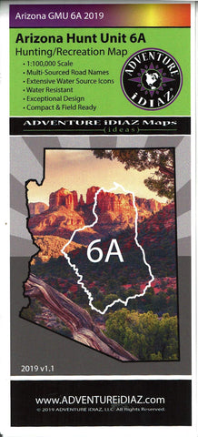Arizona GMU 6A 2019 Hunting/Recreation Map