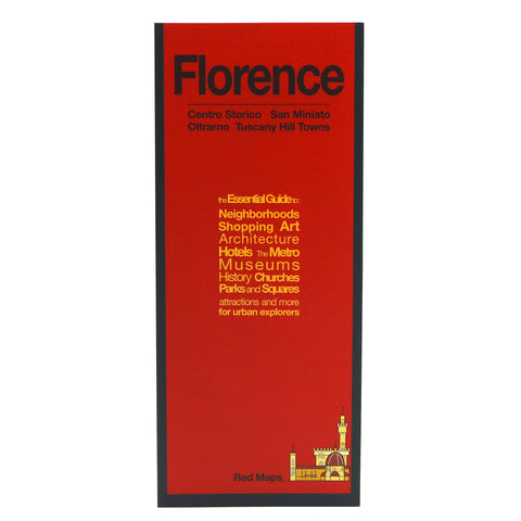 Red Maps FLORENCE Street Map and City Guide