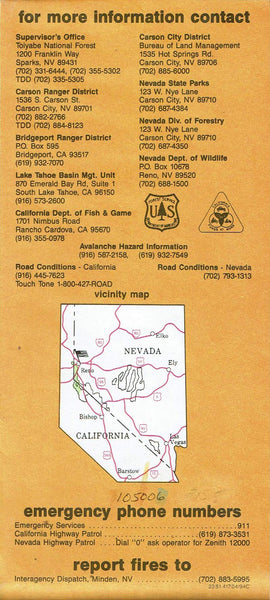 Toiyabe National Forest - Carson Ranger District