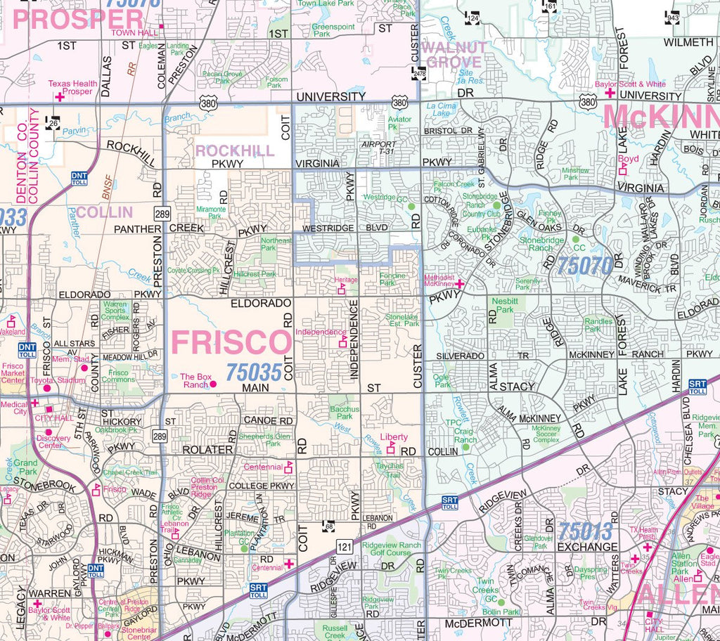 on zip code map for dallas tx