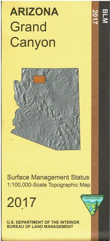 Grand Canyon Surface Management Status 1:100,000-Scale Topographic Map