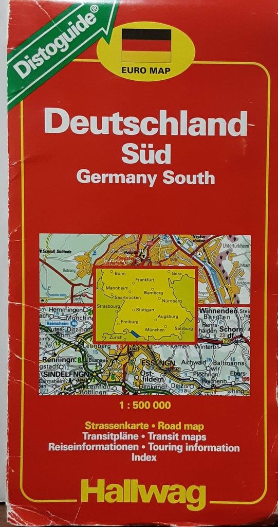 Hallwag Road Map/distoguide: South Germany: 1994