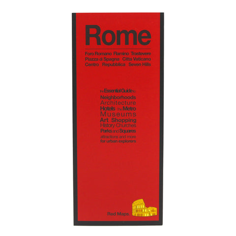 Red Maps ROME Street Map and City Guide