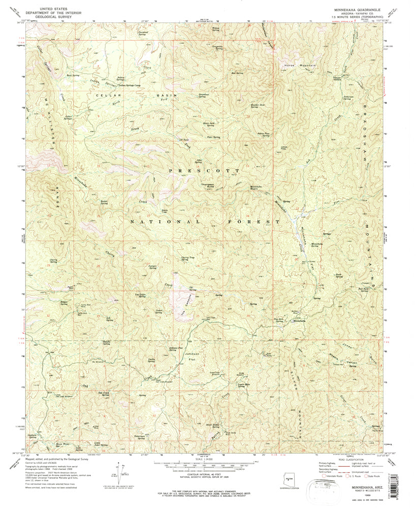 Minnehaha, AZ (7.5'×7.5' Topographic Quadrangle)