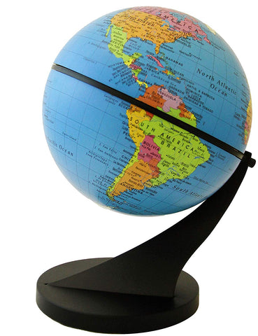 "Stellanova Swivel and Tilt Globe - Interactive & Educational Children's Desktop Globe, Blue Ocean Political Map, Over 2,000 Place Names, Weighted Base (6""/15 cm diameter)"