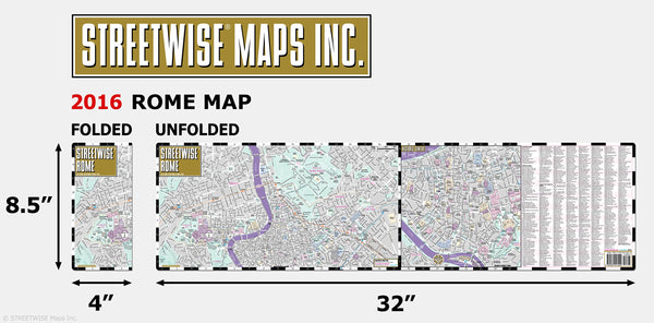 Streetwise Rome Map - Laminated City Center Street Map of Rome, Italy - Folding pocket size travel map with metro map, subway - Wide World Maps & MORE! - Book - StreetWise - Wide World Maps & MORE!