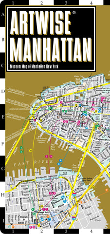 Artwise Manhattan Museum Map - Laminated Museum Map of Manhattan, NY