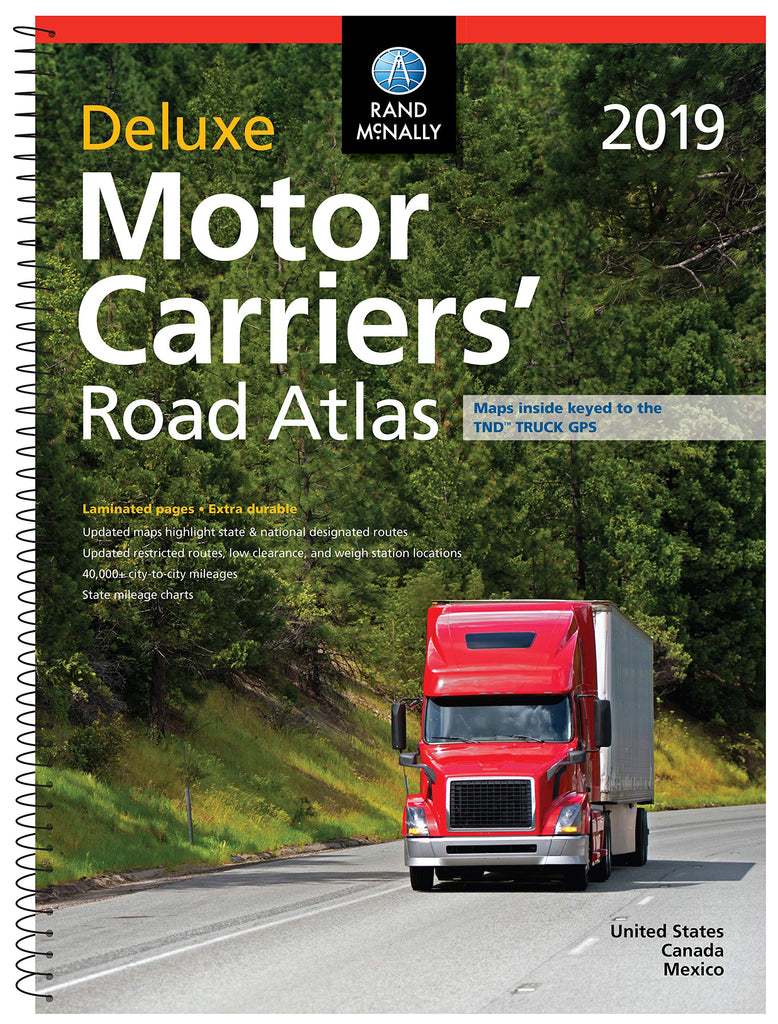 Rand McMally 2019 Motor Carriers' Deluxe Road Atlas United States Canada Mexico