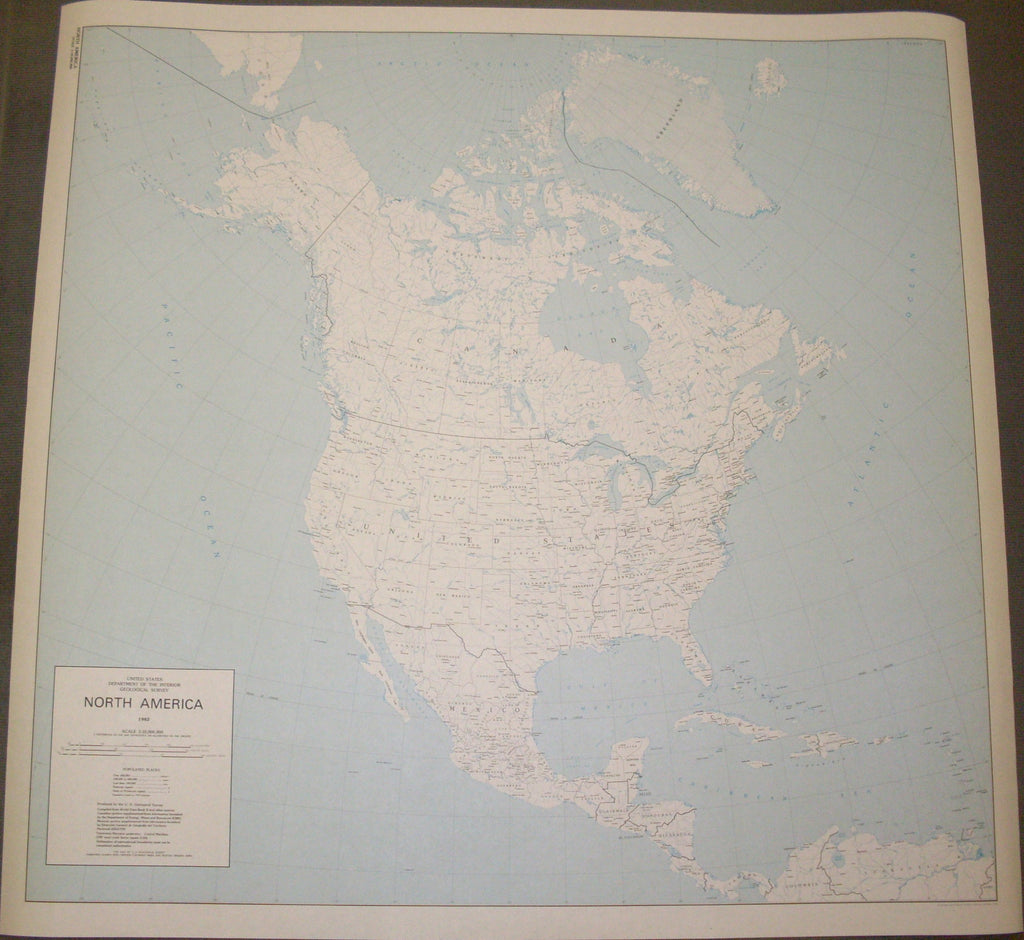 North America (TUS5419) [Map] [Jan 01, 1982] United States Department of the ... - Wide World Maps & MORE!