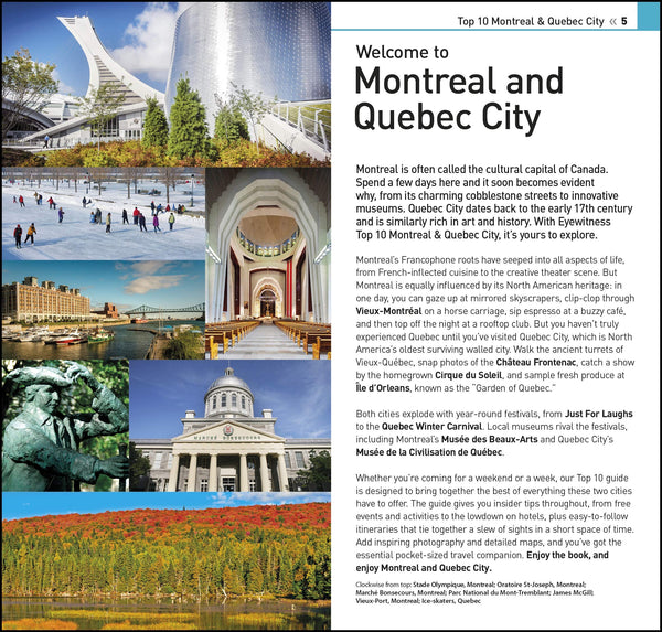 Top 10 Montreal and Quebec City (DK Eyewitness Travel Guide) - Wide World Maps & MORE! - Book - Wide World Maps & MORE! - Wide World Maps & MORE!