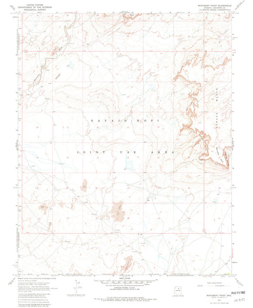 MONUMENT POINT, Arizona (7.5'×7.5' Topographic Quadrangle)