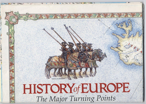 NATIONAL GEOGRAPHIC MAP - History of Europe - The Major Turning Points - December 1983