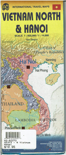 Hanoi & Northern Vietnam Travel Reference Map 1:14,000/1:925,000