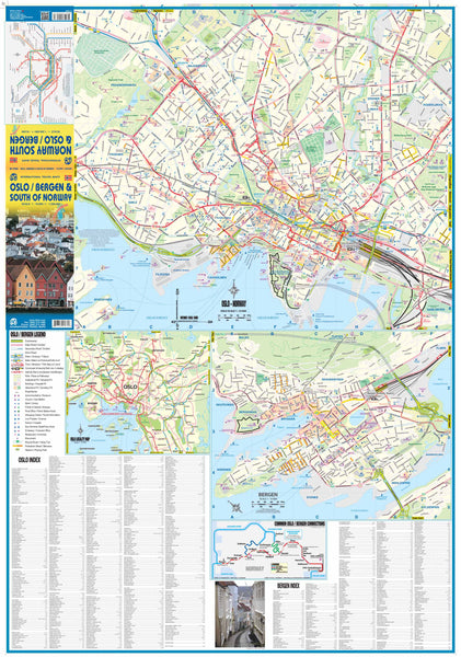 Oslo / Bergen / South of Norway Travel Reference Map - Wide World Maps & MORE! - Map - ITMB Publishing - Wide World Maps & MORE!