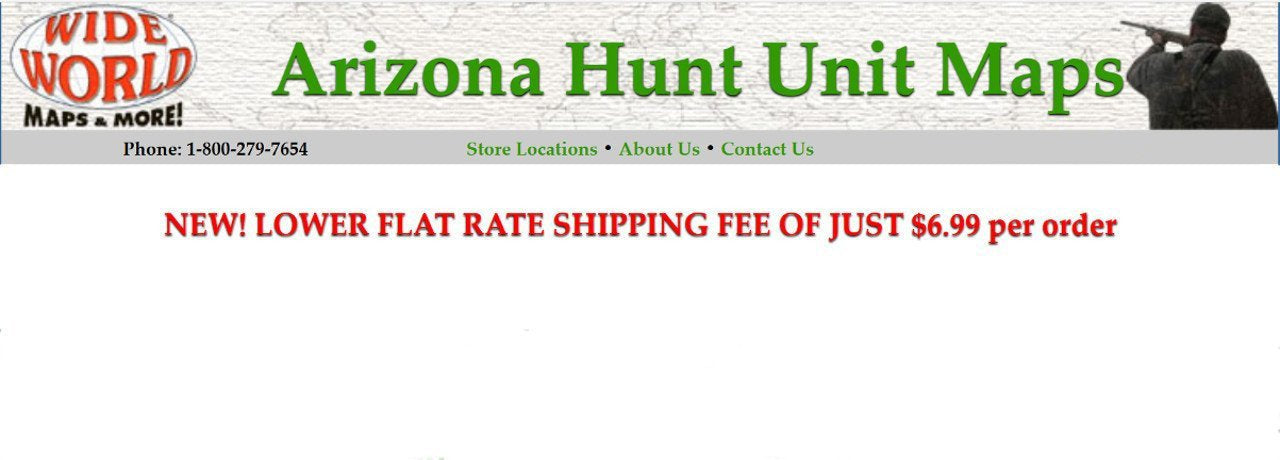 Arizona Hunt Unit Topo Maps