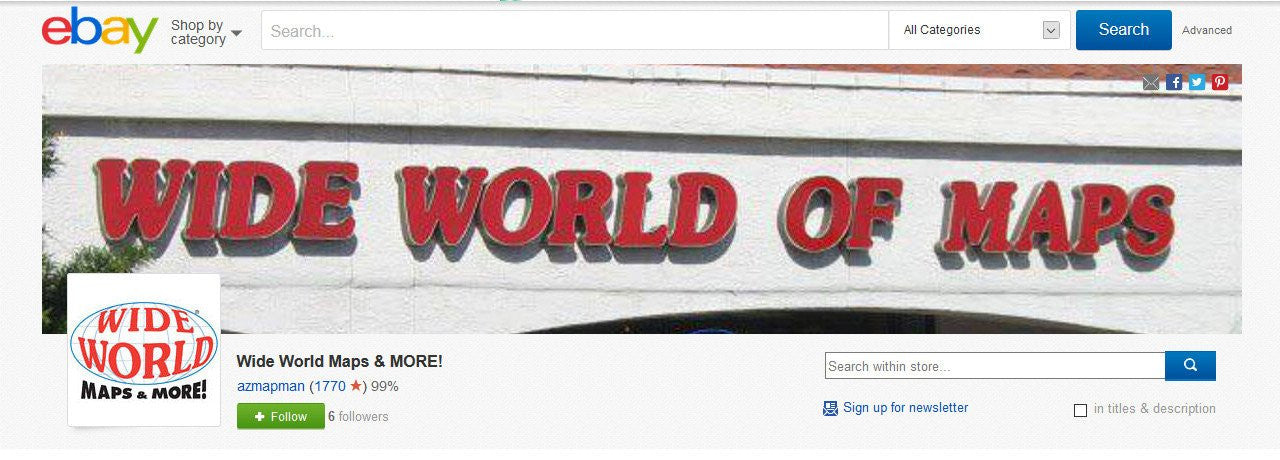 Wide World Maps & MORE! eBay Store