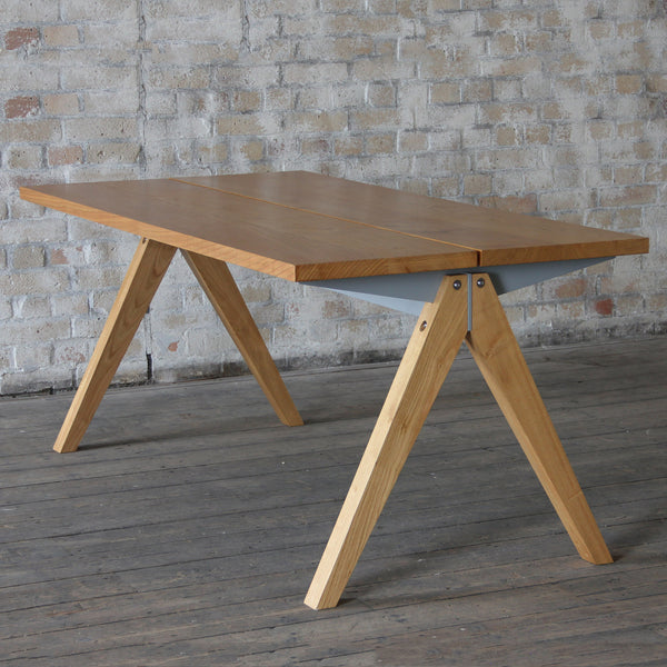industrial beam table solid wood