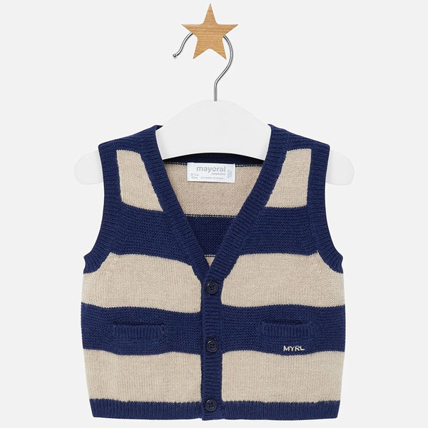 Striped Knit Vest 2310
