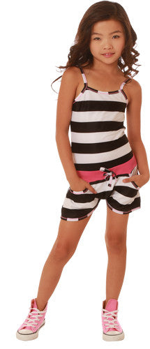 Ooh! La, La! Couture Black & White Stripes Romper