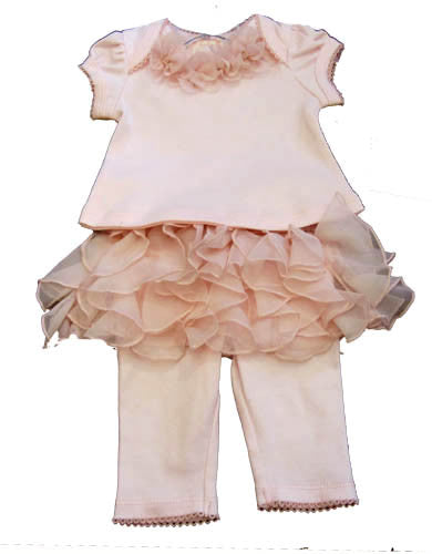 Baby Biscotti Beloved Roses Skirted Legging Set