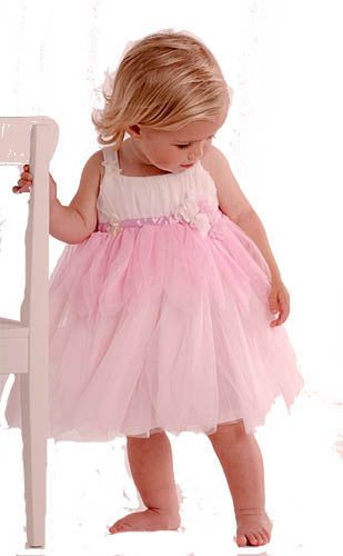 Baby Biscotti Birthday Girl Petal Dress