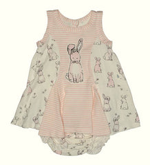 Baby Biscotti Bunny Hop Dress and Panty Set