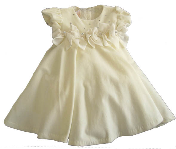 Baby Biscotti Cream Velvet Birthday Girl Dress