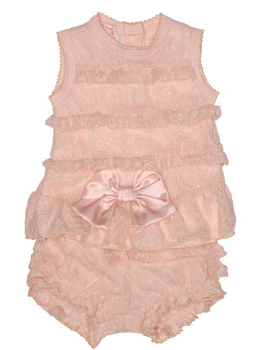 Baby Biscotti Heavenly Lace Top and Bloomer Set