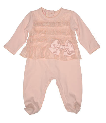 Baby Biscotti Heavenly Lace Footie
